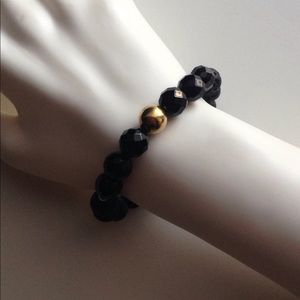 Jewelry - Black Jade & Lava Stone Beaded Bracelet